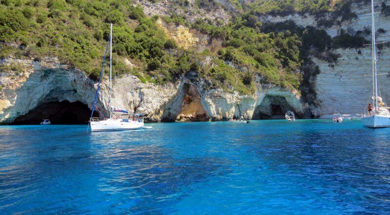 grottes bleues paxos tour croisière bateau paxos antipaxos plongée