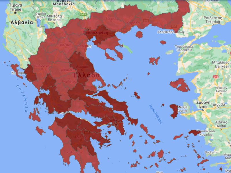 Carte Covid grece