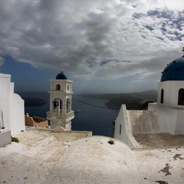 iles grecques en hiver santorin en hiver