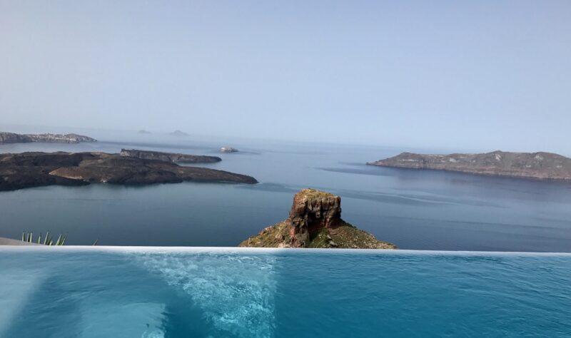kapari santorin hotel de luxe santorin honeymoon lune de miel vue incroyable