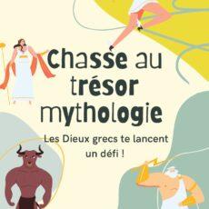 """anniversaire chasse au trésor """"mythologie"""" jeu de piste à télécharger"""