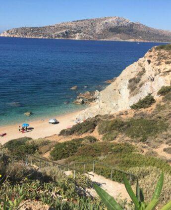 Des Plages à athènes : Kape Beach une plage à Sounion - plage athenes