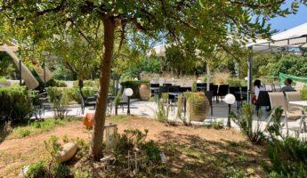 Le café du musée d'art byzantin à AThènes