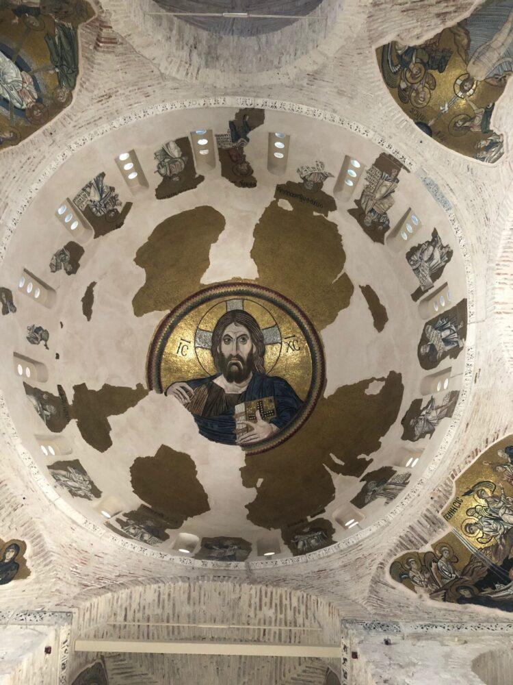 christ pantocratore mosaique monastère de Dafni Grèce